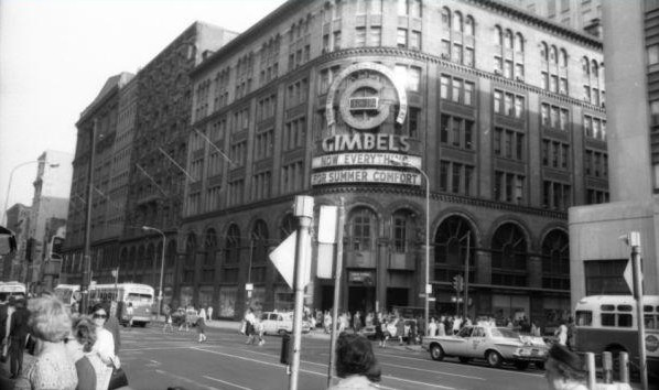 Gimbels department store and slinky